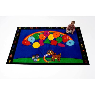 Rainbow Paint Blue/Green/Red Area Rug