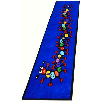 Caterpillar Blue Area Rug