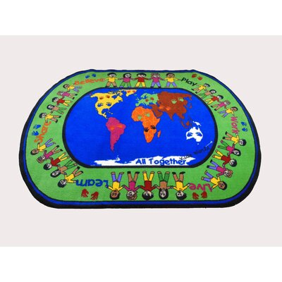 All Together Area Rug Rug Size: Oval 5 x 8
