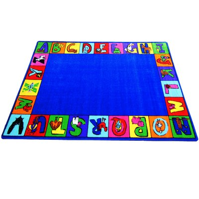 My ABC Squares Area Rug Rug Size: 66 x 84