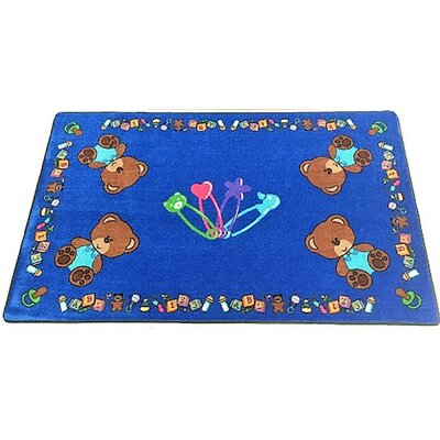 Baby Bears Hand-Tufted Blue Area Rug Rug Size: 8 x 12
