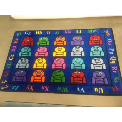 Blue Silly Seats Area Rug Rug Size: 5 x 8