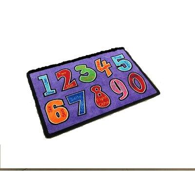 Harrietstown Numero Uno Violet Area Rug