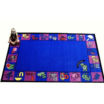 Alpha Charlie Blue Area Rug Rug Size: Rectangle 8 x 10