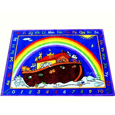 Animals in the Ark Blue Area Rug Rug Size: 66 x 84