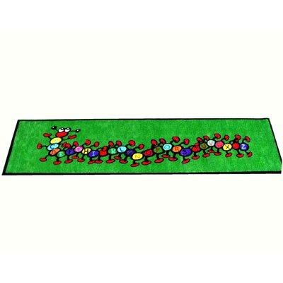 Caterpillar Green Area Rug Rug Size: Runner 33 x 12