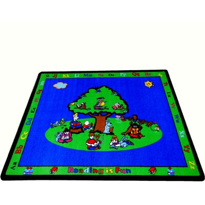Blue Fun Learning Reading is Fun Area Rug Rug Size: Rectangle 66 x 84