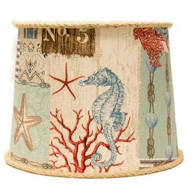 Nautical Patchwork 14 Linen Drum Lamp Shade