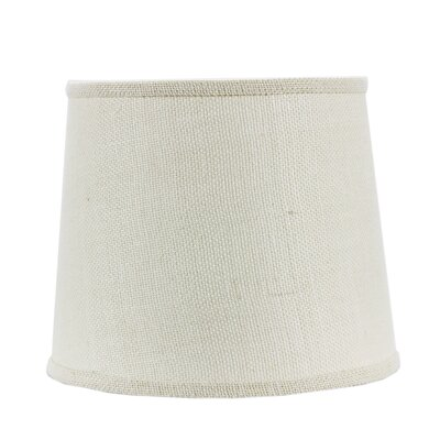 16 Burlap Drum Lamp Shade Finish: White