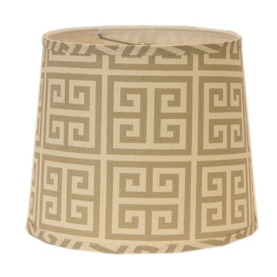 10 Drum Lamp Shade Finish: Taupe/Natural