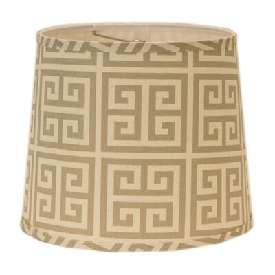Greek Key 5 Linen Drum Candelabra Shade