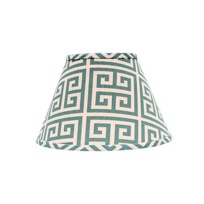10.5 Empire Lamp Shade Finish: Aqua