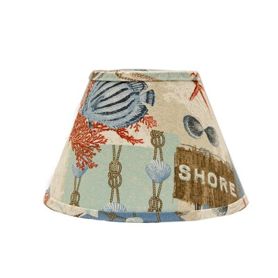 Nautical Patchwork 5 Linen Empire Candelabra shade