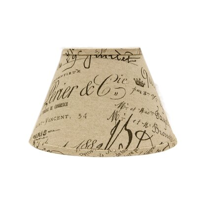 French Script 14 Linen Empire Lamp Shade