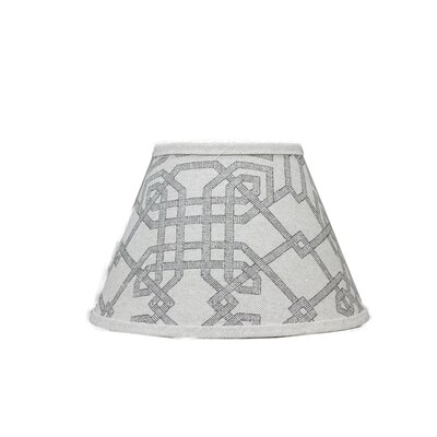 Geometric 5 Linen Empire Candelabra Shade
