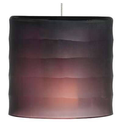 Bali Monopoint 1-Light Mini Pendant Base Finish: Satin Nickel, Shade Color: Amethyst, Bulb Type: LED