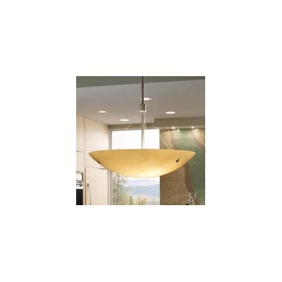 Larkspur Inverted Fluorescent 2-Light Pendant Finish: Satin Nickel, Shade Color: Sand, Size: 14