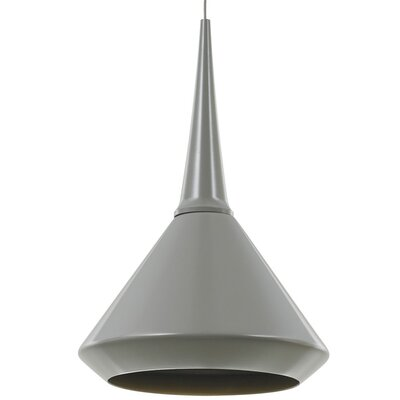 Arcell Monorail Schoolhouse Pendant Finish: Satin Nickel, Bulb Type: Halogen, Shade Color: Cashmere