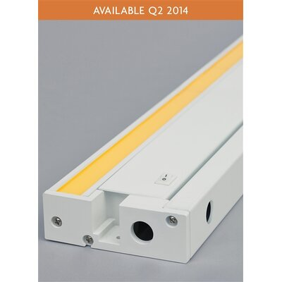 Unilume LED Under Cabinet Bar Light Finish: White, Size: 1.3 H x 30.2 W x 3.7 D, Bulb Color Temperature: 930K