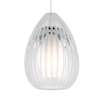 Ava 1-Light Monopoint Mini Pendant Shade Color: Clear, Finish: Satin Nickel