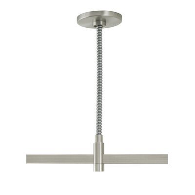 Single-Circuit T-Trak Flexible Center Power Feed with Round Canopy Finish: White