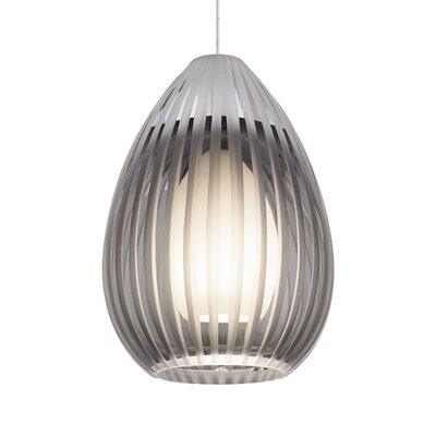Ava 1-Light Monopoint Mini Pendant Finish: Chrome, Shade Color: Smoke