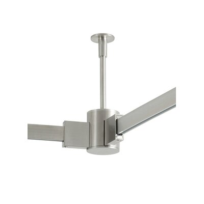 4 Rigid Standoff Single-Circuit T-Trak with T Connector Size: 24 H x 1 W x 1 D, Finish: Satin Nickel