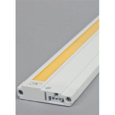 Unilume LED Under Cabinet Bar Light Finish: White, Size: 0.74 H x 19.2 W x 2.8 D