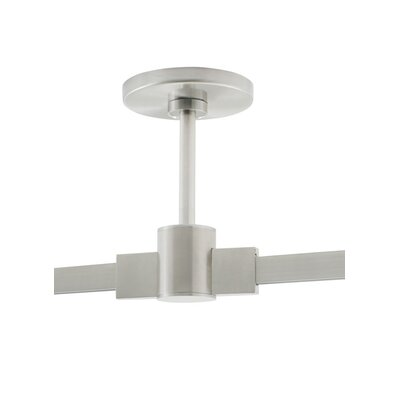 4 Round Power Feed Single-Circuit T-Trak Canopy with Connector Finish: Satin Nickel, Size: 48 H x 5.5 W x 5.5 D