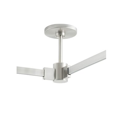 Power Feed Single-Circuit T-Trak Canopy Finish: Satin Nickel, Size: 12 H x 3.8 W x 3.8 D