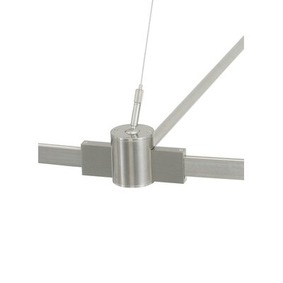 Single-Circuit T-Trak Power Outside Rigger with Connector Finish: Satin Nickel