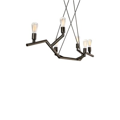Akimbo 6-Light Kitchen Island Pendant Finish: Antique Bronze, Size: 36 H x 48 W x 12.90 D
