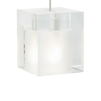 Cube 1-Light Kable Lite Pendant Finish: Satin Nickel, Shade Color: Frost
