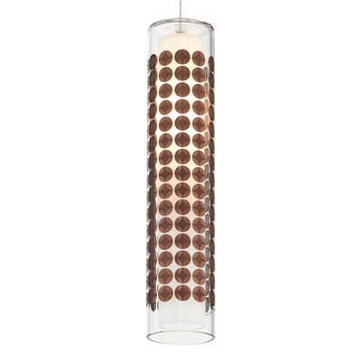 Vorlage 1-Light Mini Pendant Finish: Chrome, Shade Color: Brown