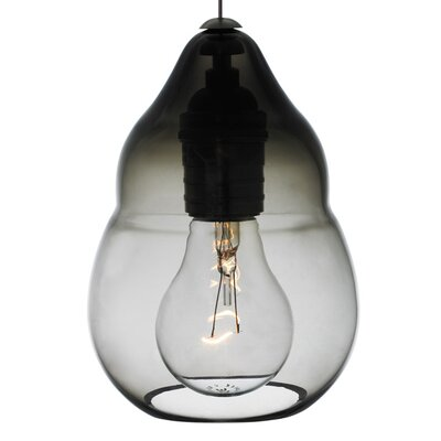 Capsian 1-Light Mini Pendant Finish: Satin Nickel, Shade Color: Smoke