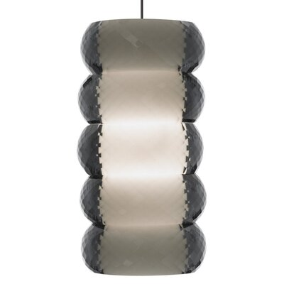 Bangle Pendant Shade Color: Smoke, Base Finish: Satin Nickel