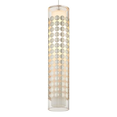 Vorlage Kabel Lite Mini Pendant Shade Color: Sterling Silver/Duomo, Bulb Type: Halogen, Finish: Satin Nickel