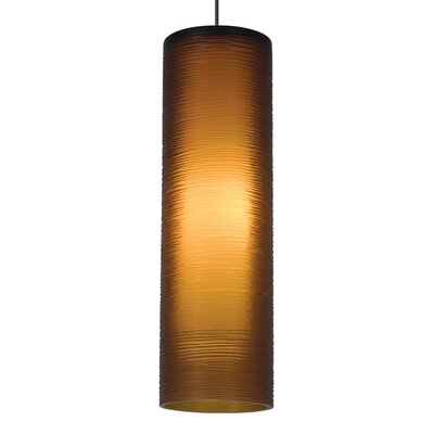Borrego 1-Light Mini Pendant Finish: Satin Nickel, Shade Color: Amber