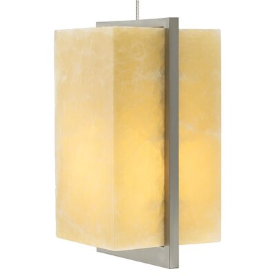 Coronado 1-Light LED Mini Pendant Base Finish: Satin Nickel, Shade Color: Onyx