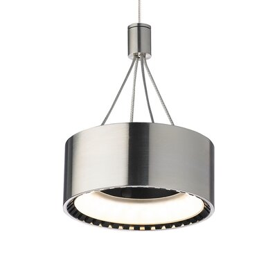 Corum 2-Circuit Monorail 1-Light Drum Pendant