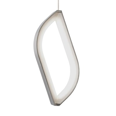 Folium 2-Circuit Monorail Pendant Shade Color: Satin Nickel