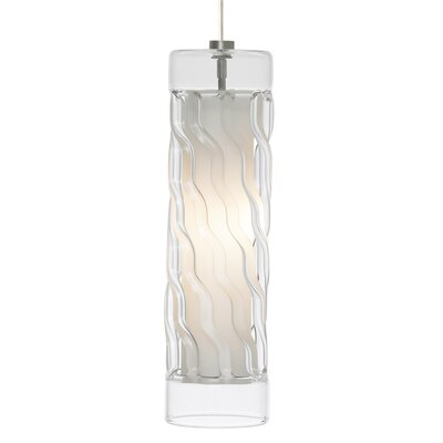 Liza 1-Light Mini Pendant Finish: Chrome, Shade Color: Black