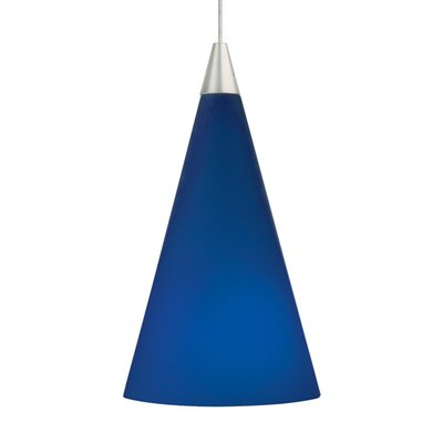 Pilning Cone 1-Light Mini Pendant Shade Color: Cobalt