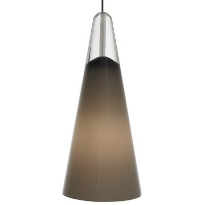 Selina 1-Light Mini Pendant Bulb Type: Halogen, Finish: Satin Nickel, Shade Color: White