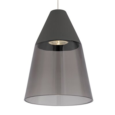 Masque 1-Light Monopoint Mini Pendant Bulb Type: Halogen, Shade Color: Smoke/Gray