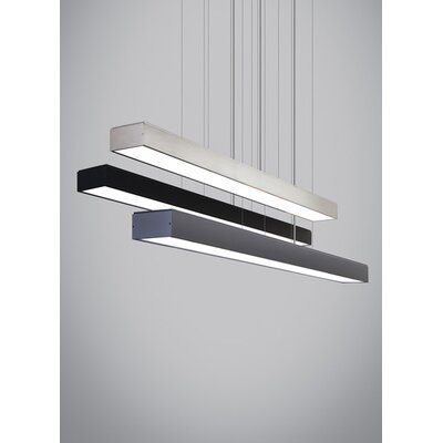 3-Light Kitchen Island Pendant Finish: Black, Bulb Type: LED