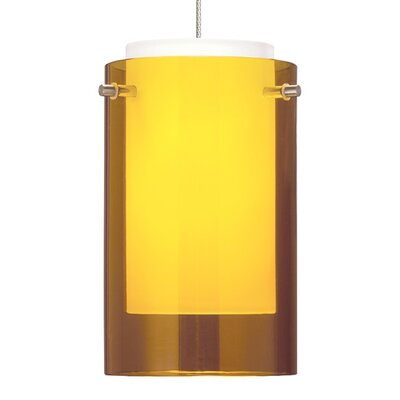 Echo Drum Pendant Base Finish: Chrome, Shade Color: Amber