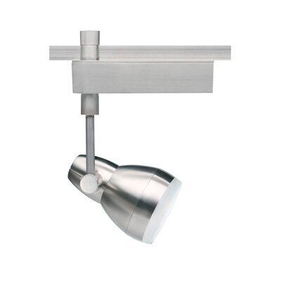 Om Powerjack Ceramic Metal Halide T4 39W 1-Light Track Head Finish: Satin Nickel