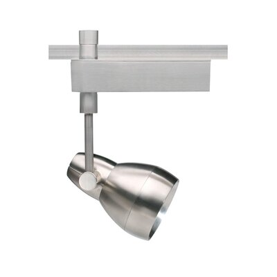 "Om 2-Circuit 1 Light Ceramic Metal Halide T4 20W Track Light Head with 60 Beam Spread Drop Height: 5.1"", Finish: White, Decorative Lens Ring: Without Ring"