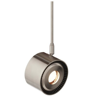 ISO 1-Light 20� Beam 2-Curcuit Monorail Track Head Finish: Satin Nickel, Size: 12 H x 3.6 W x 2.8 D, Bulb Color Temperature: 827K